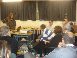 Question time during the workshop