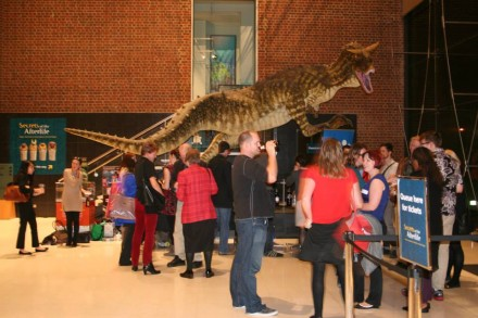 Attendees network at the WA Museum - Museum and Mummies night