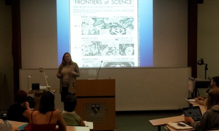 Joan Leach gave a seminar about 'A Comic Approach to Writing Science'