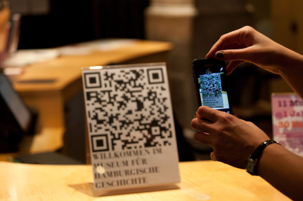 Use of QR codes in Museum. Image in Public Domain